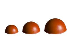 Полушаровые для клапанов специал резина  FV - polusharovye-dlya-klapanov-spetsial-rezina-fv - fv-plast-a-s - seryj - 3-8 - 0-01 - 100 - czech-republic