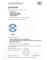 Сертификат SKZ PE-RT II FV PLAST