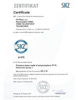 Сертификат PPR FV PLAST
