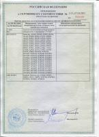 Сертификат соответствия. Вентили  FV PLAST