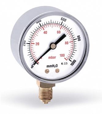 Манометр радиальный на газ - fr260-63mm-0-60mb-mmh2o - watts-industries-deutschland-gmbh - 0-173 - 50 - evrosoyuz