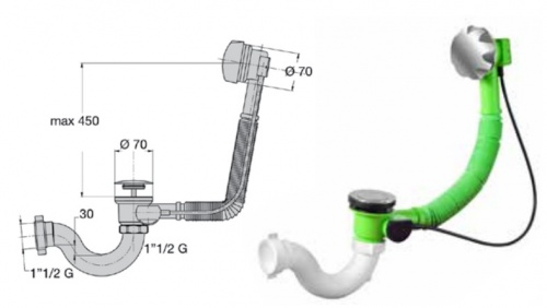 Сифоны для ванны - sifon-dlya-vanny-avtomat-komplekt-metall - miano-group - x - 0-89 - 12 - czech-republic