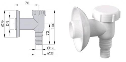 Сифон для стиральной машины - sifon-naruzhnyj-belyj - miano-group - x - 0-053 - 100 - czech-republic